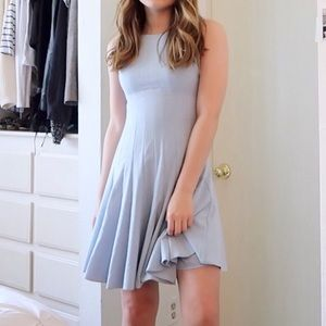 Vintage Calvin Klein Blue Pleated A Line Dress